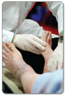 First your Doctor will perform a physical exam of your foot.