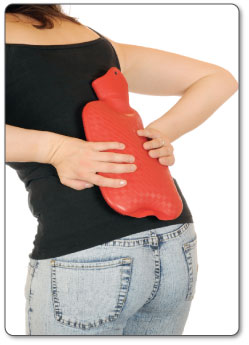Hot water bottles are awkward to use and don't penetrate the heat deep enough for effective treatment.